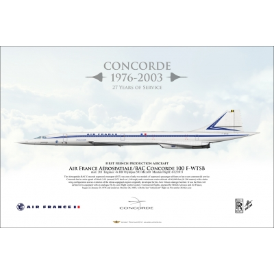 "Air France ""First French Production Aircraft"" Aérospatiale BAC Concorde F-WTSB"