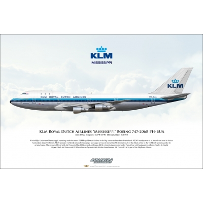 "KLM Royal Dutch Airlines ""Mississippi"" Boeing 747-206B PH-BUA"