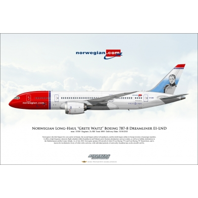 "Norwegian Long-Haul ""Grete Waitz"" Boeing 787-8 Dreamliner EI-LND"