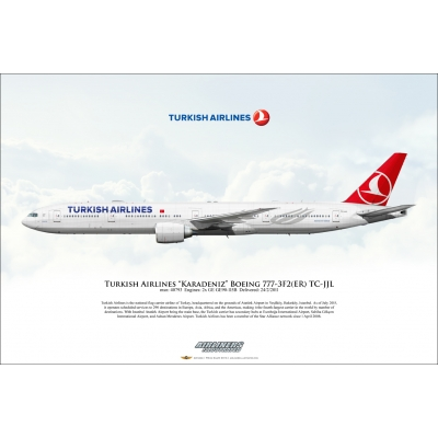 "Turkish Airlines ""Karadeniz"" Boeing 777-3F2ER TC-JJL"