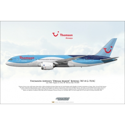 "Thomson Airways ""Dream Maker"" Boeing 787-8 Dreamliner G-TUIC"