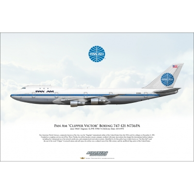 "Pan Am ""Clipper Victor"" Boeing 747-121 N736PA"