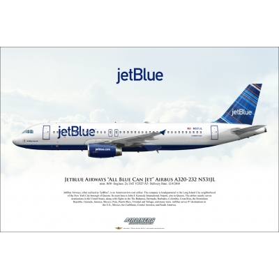 "jetBlue Airways ""All Blue Can Jet"" Airbus A320-232 N531JL"