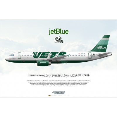"jetBlue Airways ""New York Jets"" Airbus A320-232 N746JB"