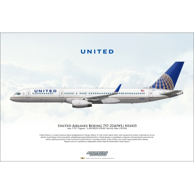 United Airlines Boeing 757-224 N14115