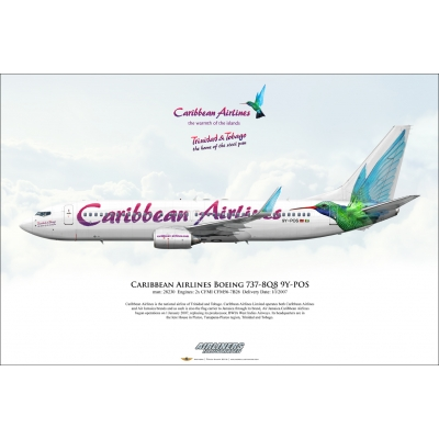 Caribbean Airlines Boeing 737-8Q8 9Y-POS
