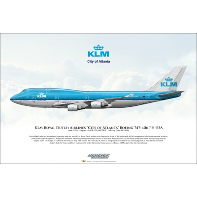 "KLM Royal Dutch Airlines ""City of Atlanta"" Boeing 747-406 PH-BFA"