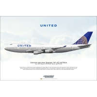 United Airlines Boeing 747-422 N1..