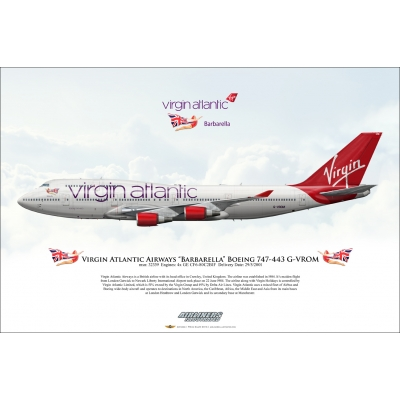"Virgin Atlantic Airways ""Barbarella"" Boeing 747-443 G-VROM"