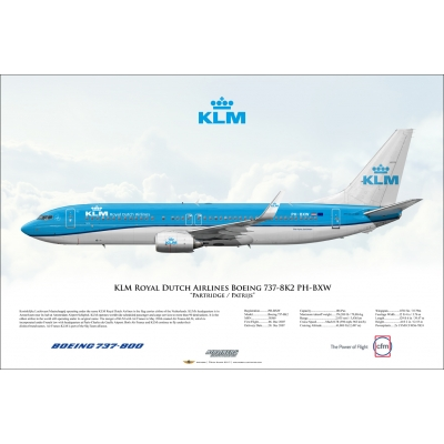 KLM Royal Dutch Airlines Boeing 737-8K2 PH-BXW