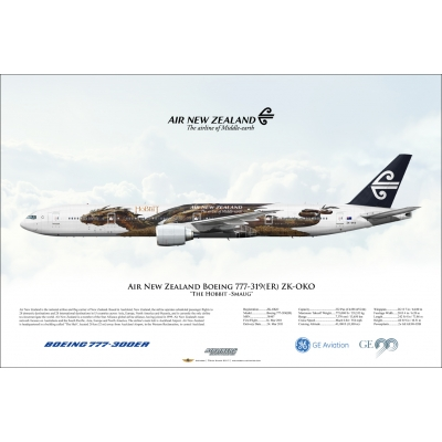 "Air New Zealand ""The Hobbit -Smaug"" Boeing 777-319ER ZK-OKO"
