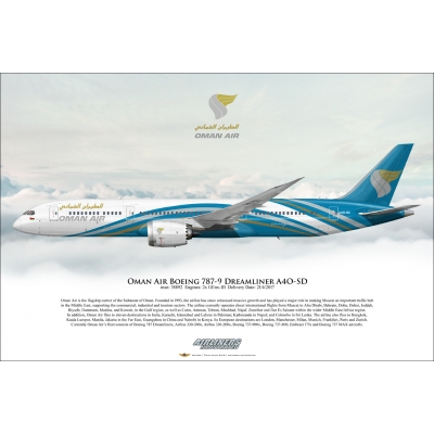 Oman Air Boeing 787-9 Dreamliner A4O-SD