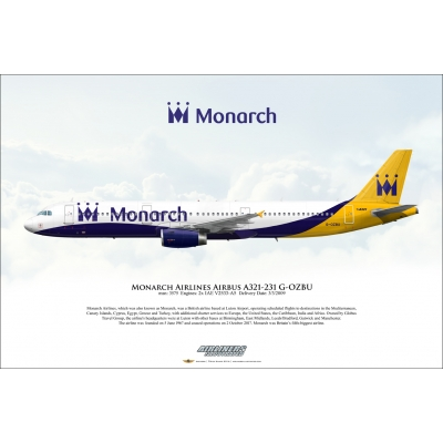 Monarch Airlines Airbus A321-231 G-OZBU