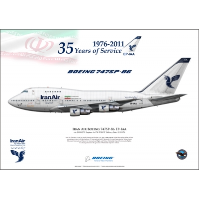 Iran Air Boeing 747SP-86 EP-IAA 35 Years of Service 1976-2011