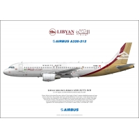 Libyan Airlines  Airbus A320-212 ..