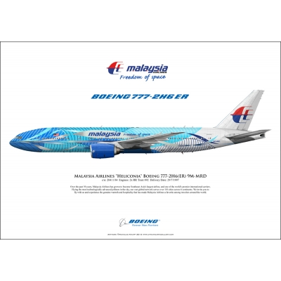 "Malaysia Airlines ""Heliconia, Freedom of Space"" Boeing 777-2H6ER 9M-MRD"
