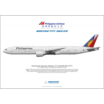 Philippine Airlines Boeing 777-36NER RP-C7777