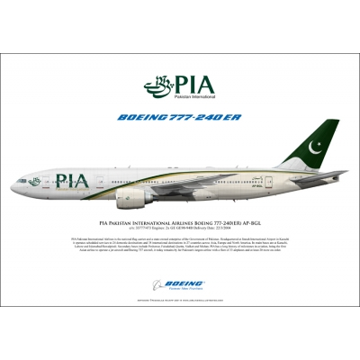 PIA Pakistan International Airlines Boeing 777-240ER AP-BGL