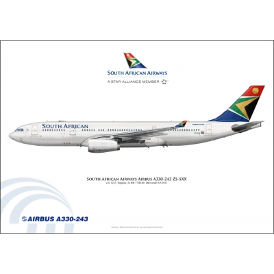 South African Airways Airbus A330-243 ZS-SXX
