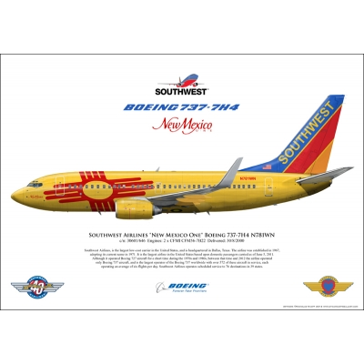 "Southwest Airlines ""New Mexico One"" Boeing 737-7H4 N781WN"