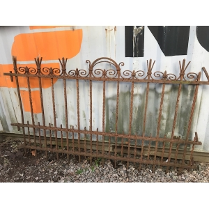 ANTIQUE FRENCH WROUGHT IRON RAILINGS