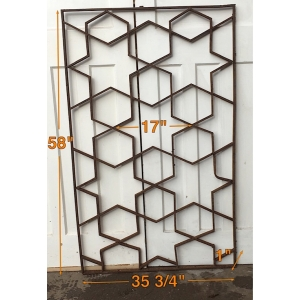 HEAVY IRONWORK PANEL - STAR DESIGN