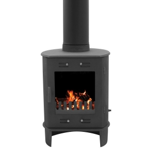 Carron Matt Black Cast Iron Dante 5Kw Multi-fuel Stove
