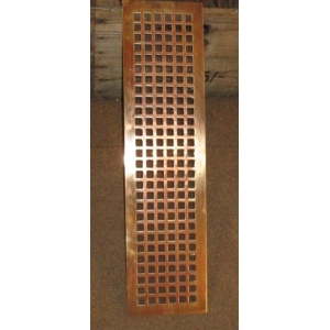Reclaimed Art Deco Brass/Bronze Air Vents/Heating grills