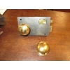 Pair of Original Plain Brass Rimlock Handles