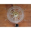 Gold Art Deco Crystal Chandelier