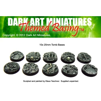 25mm Tomb bases set 1