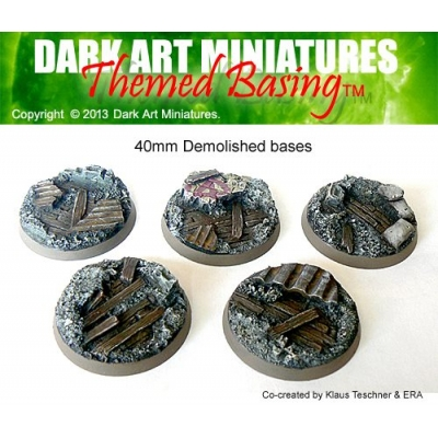 40mm Demolished bases