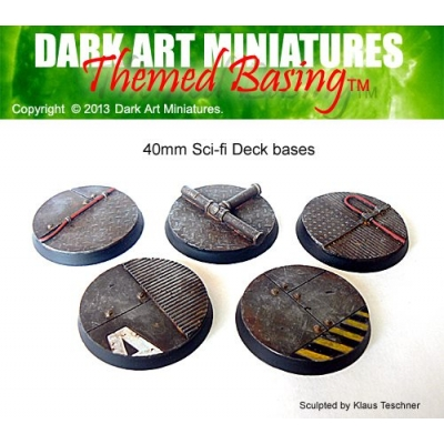 40mm Sci-fi Deck bases