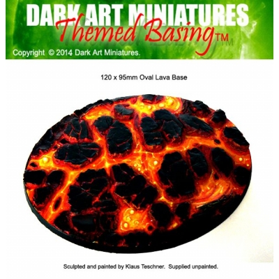 Oval Lava base 120x95mm variant 1