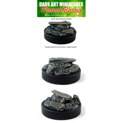 50mm round Rocky display plinth