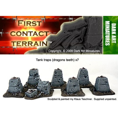 Tank Traps dragons teeth