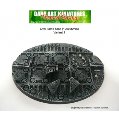 Oval Tomb base 120x95mm variant 1