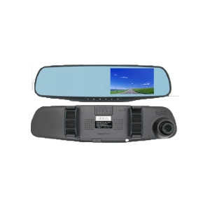 "4.3"" Clip on Mirror Monitor with Dash Cam"