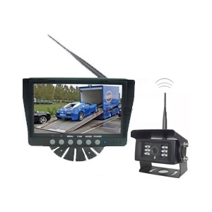"Single camera digital wireless rear view camera system with 7"" monitor"