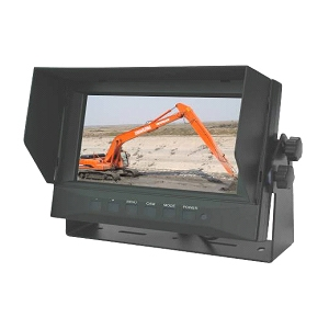 "4 Channel, 7"" Waterproof, Ruggedized IP69K Monitor for Rear View Camera Systems"