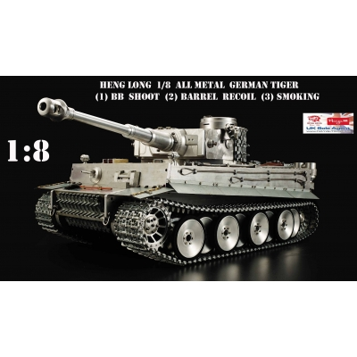 Heng Long 1/8 Complete ALL Metal German Tiger 1 BB Shooting with Barrel  Recoil & Smoking