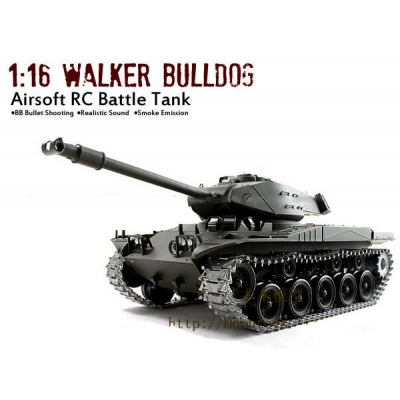 Heng Long 2 4G PRO 1/16 Walker Bulldog M41A3 RC Tank Smoke And Sound -- Pro  Version 2 4G System !
