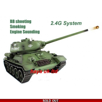 radio control rc tank Russian T-34 Tank 2 4G UK