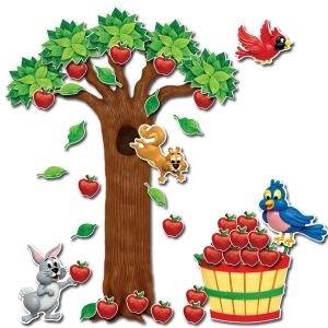 Apple Tree Bulletin Board Set