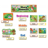 Story Elements Language Arts Mini Bulletin Board..