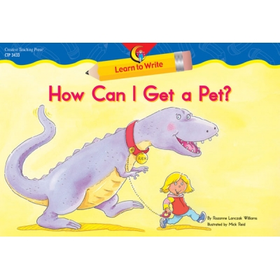 Learn to Write Reader: How Can I Get a Pet, Lap Book