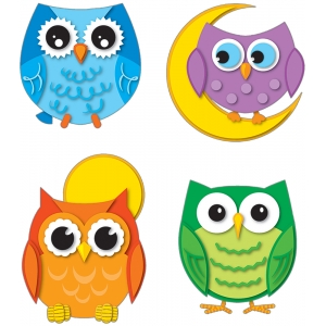 Colorful Owls Temporary Tatt..