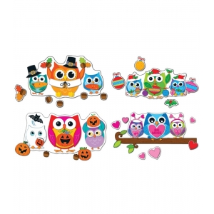 Celebrate With Colorful Owls..