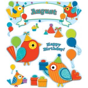 Boho Birds Birthday Bulletin..