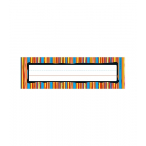 Colorful Stripes Desk Namepl..